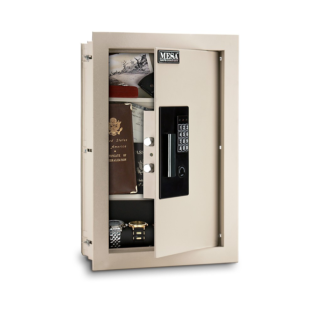 MESA Adjustable Wall Safe MAWS2113E - Angle Open
