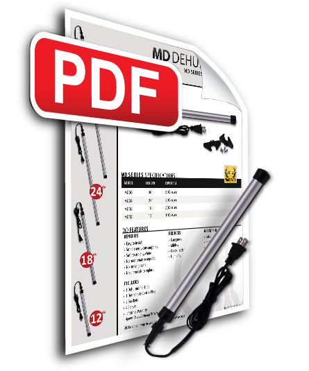 Download MD-Series Dehumidifier Spec Sheets